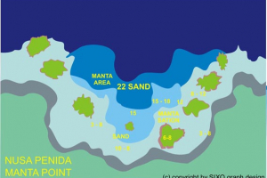Dive site map: Manta Ray Point - Nusa Penida