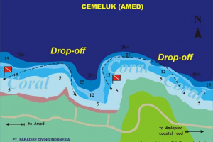 Dive site map: Amed / Cemeluk